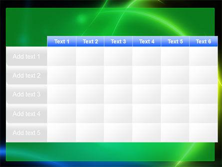 Green Swirls PowerPoint Template Slide 15