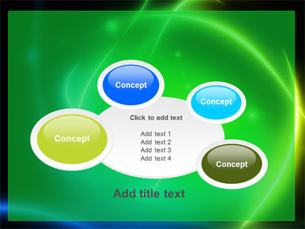Green Swirls PowerPoint Template Slide 16
