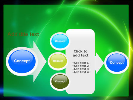 Green Swirls PowerPoint Template Slide 17