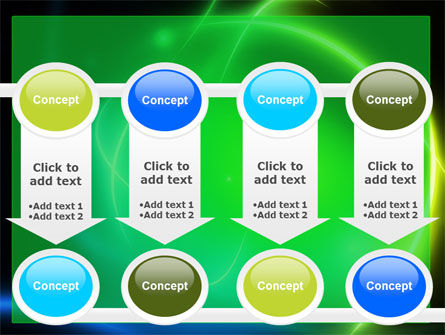 Green Swirls PowerPoint Template Slide 18