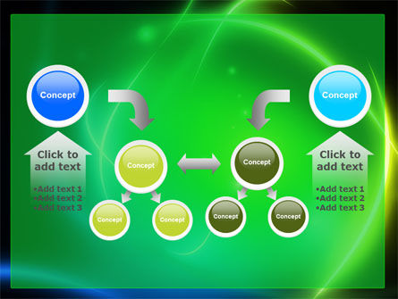 Green Swirls PowerPoint Template Slide 19