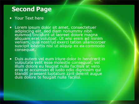 Green Swirls PowerPoint Template Slide 2