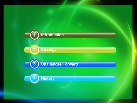 Green Swirls PowerPoint Template Slide 3