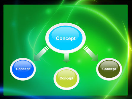 Green Swirls PowerPoint Template Slide 4