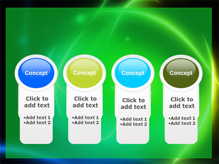 Green Swirls PowerPoint Template Slide 5