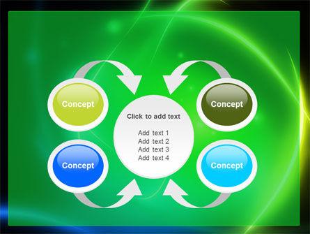 Green Swirls PowerPoint Template Slide 6