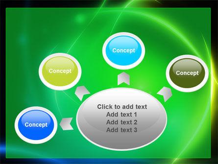 Green Swirls PowerPoint Template Slide 7