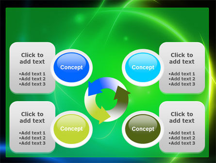 Green Swirls PowerPoint Template Slide 9