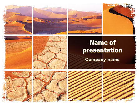 Desert PowerPoint Template, 05901, Nature & Environment — PoweredTemplate.com