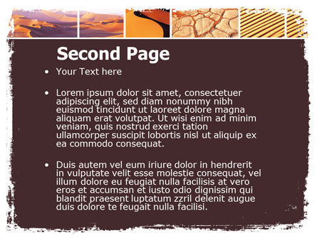 Desert PowerPoint Template, Slide 2, 05901, Nature & Environment — PoweredTemplate.com