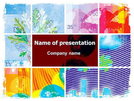 Meteorology Collage PowerPoint Template, 05902, Nature & Environment — PoweredTemplate.com