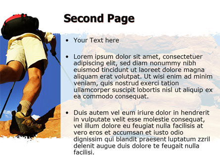 Mountain Hiking PowerPoint Template, Slide 2, 05905, Sports — PoweredTemplate.com
