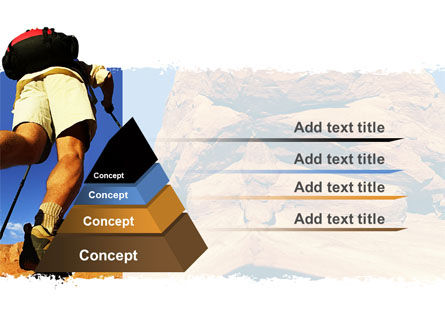 Mountain Hiking PowerPoint Template, Slide 4, 05905, Sports — PoweredTemplate.com