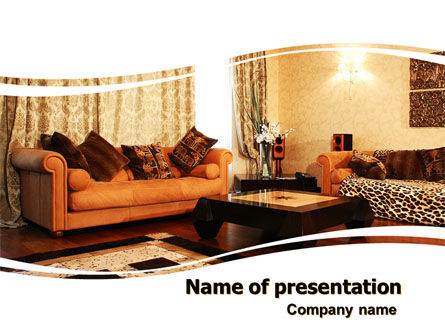 Careers/Industry: Living Room PowerPoint Template #05906