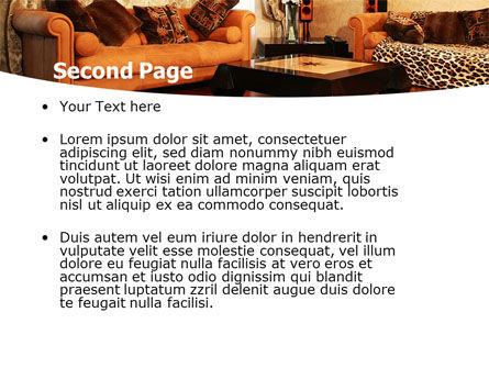 Living Room PowerPoint Template Slide 2