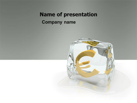 Euro PowerPoint Template, 05907, Financial/Accounting — PoweredTemplate.com