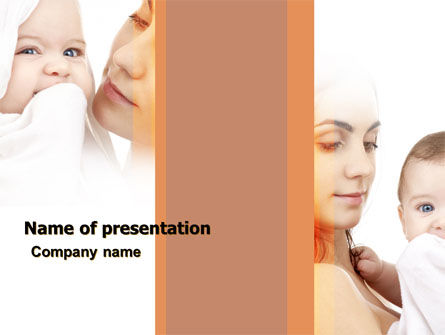 People: Baby and Mom PowerPoint Template #05908