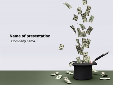 Financial/Accounting: Magic Money PowerPoint Template #05909