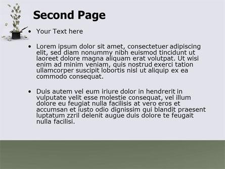 Magic Money PowerPoint Template, Slide 2, 05909, Financial/Accounting — PoweredTemplate.com