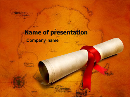 Treasure Map PowerPoint Template, 05910, Careers/Industry — PoweredTemplate.com