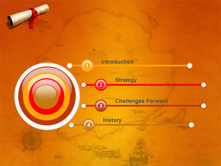 Treasure Map PowerPoint Template, Slide 3, 05910, Careers/Industry — PoweredTemplate.com