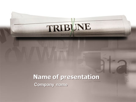 Tribune Magazine PowerPoint Template