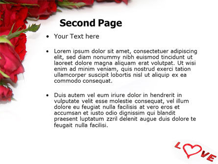 Love PowerPoint Template, Slide 2, 05912, Holiday/Special Occasion — PoweredTemplate.com