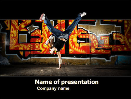 People: Breakdance PowerPoint Template #05913