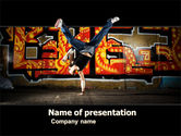 People: Break Dance PowerPoint Template #05913