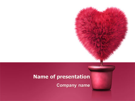 Careers/Industry: Fuchsia Heart PowerPoint Template #05917