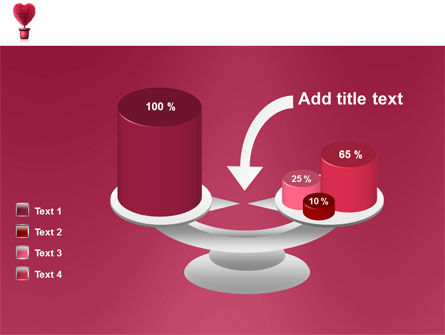 Fuchsia Heart PowerPoint Template Slide 10