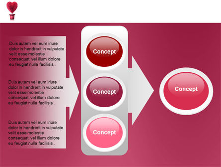 Fuchsia Heart PowerPoint Template Slide 11
