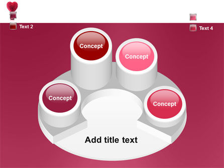 Fuchsia Heart PowerPoint Template Slide 12