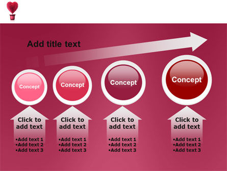 Fuchsia Heart PowerPoint Template Slide 13