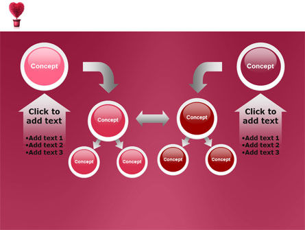 Fuchsia Heart PowerPoint Template Slide 19