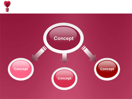 Fuchsia Heart PowerPoint Template Slide 4