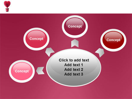 Fuchsia Heart PowerPoint Template Slide 7