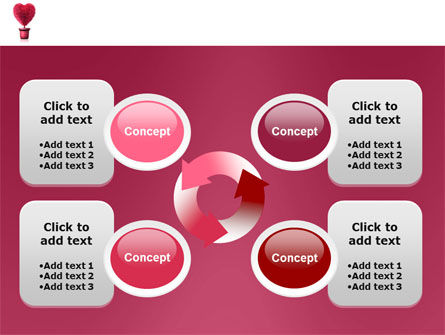Fuchsia Heart PowerPoint Template Slide 9