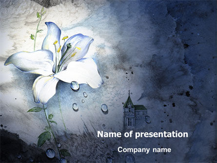 Art & Entertainment: White Lily PowerPoint Template #05918