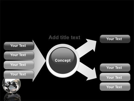 Silver Globe PowerPoint Template Slide 14
