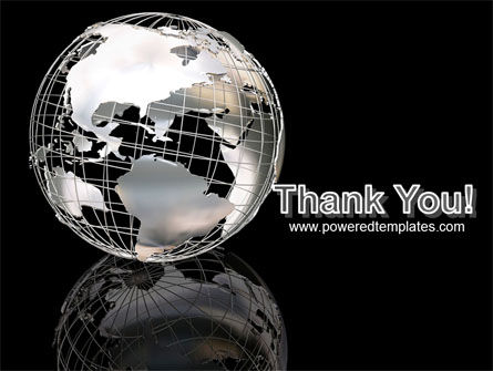 Silver Globe PowerPoint Template Slide 20