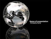 Global: Silver Globe PowerPoint Template #05921