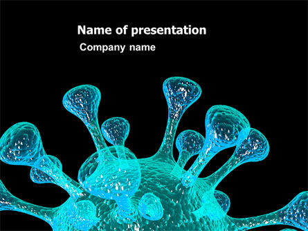 Microbe PowerPoint Template, 05923, Medical — PoweredTemplate.com