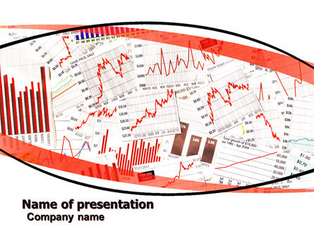 Financial/Accounting: Stock Market Histograms PowerPoint Template #05924