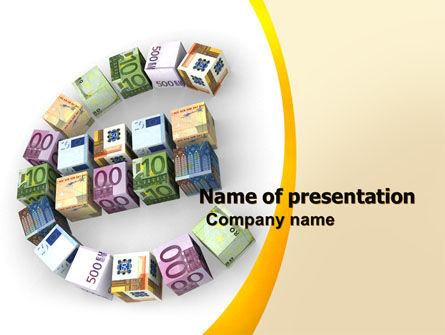 Euro Investing PowerPoint Template, 05925, Financial/Accounting — PoweredTemplate.com