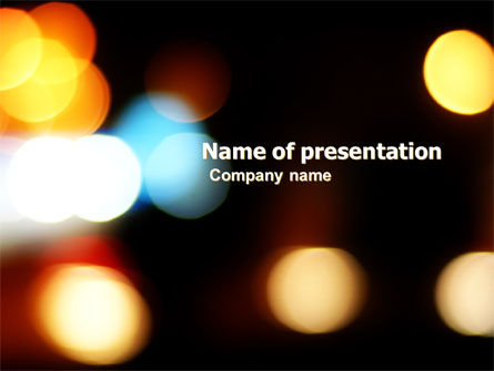 Abstract/Textures: Lights Of Bokeh PowerPoint Template #05926