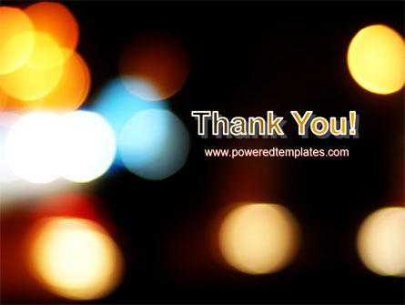 Lights Of Bokeh PowerPoint Template Slide 20