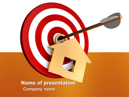 House Target PowerPoint Template, 05927, Consulting — PoweredTemplate.com