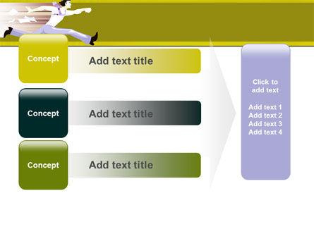 Rushing Man Free PowerPoint Template Slide 12