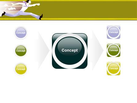 Rushing Man Free PowerPoint Template Slide 17